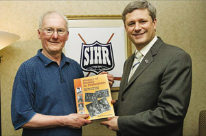 Ernie Fitzsimmons and Prime Minister Stephen Harper