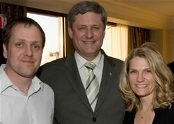 2007 AGM Organizer James Milks with Stephen Harper